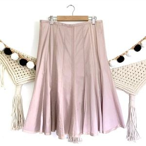 ANTHRO Elevenses Dusty Pink Godet Flare Skirt